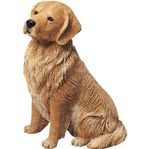 Sandicast Figurine - Sandicast Original Size Golden Retriever Sculpture - Sitting