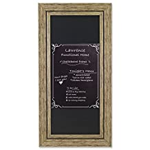 "Lawrence Frames Weathered Decorative Chalkboard Frame with Magnet Board, 8 x 20"", Natural"
