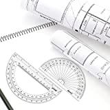 eBoot Plastic Protractor 180 Degree, 4 Inch and 6