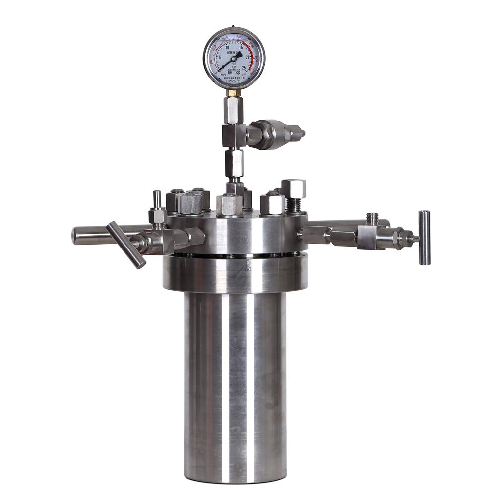 HNZXIB 250ML Laboratory Chemical Simple Stainless Steel High Pressure Reactor Autoclave