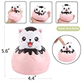 Aolige Jumbo Squishies Cute Pink Cat Bread Kawaii Cream Scented Very Slow Rising Decompression Squeeze Kids Simulation Toys