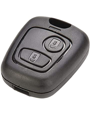 RUNGAO - Carcasa para llave de coche compatible con Peugeot ...