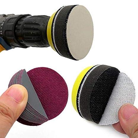 insgesamt 10 St/ück f/ür Nass-//Trockenschleifer Maso Schleifscheiben mit Klettverschluss mehrfarbig 5,1 cm Schleifscheiben mit 50 mm Klettverschluss