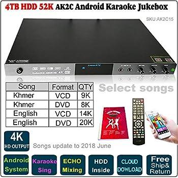 Amazon com: 4TB,HDD 84K Android Cloud HDD Karaoke Jukebox, English