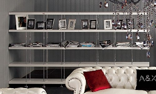 A&X Stafford White Crocodile Lacquer Room Divider by VIG Furniture by VIG Furniture