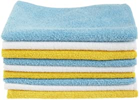 AmazonBasics CW190423A - Kit de limpieza para ordenador (Dry cloths, Microfibre, Blue, White, Yellow)