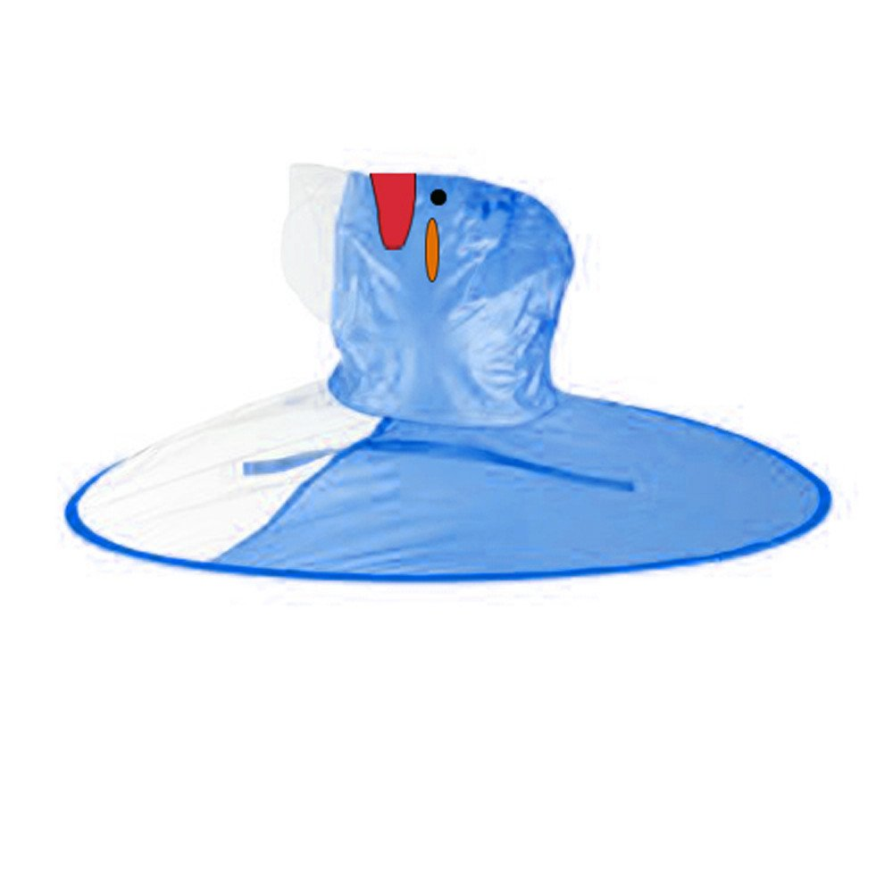 Baby Junge Kleidung Outfit, Honestyi Netter Regen Mantel UFO Regenmantel Pinguin Regenmantel Kinderregenschirm Hut magische Hände geben Regenmantel Kind frei (Roas Blau Gelb,) Honestyi5040