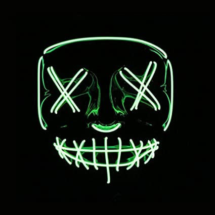 Amazon.com: LED Mask Halloween Party Mask Masquerade Mask ...