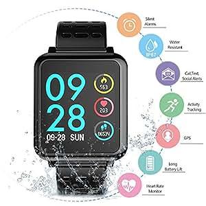 Smartwatch Pulsera Inteligente, WINSUNY Reloj inteligente deportivo Bluetooth Smart Watch Multifuncional Smartband monitor de actividad Rastreador de fitness IP67 Impermeable fitness tracker para Hombres, Mujeres (T2)