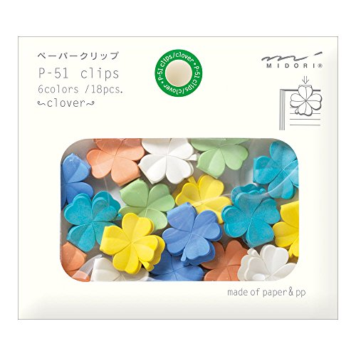 Midori Paper Clips, Clover, 18 Pieces (43319006)