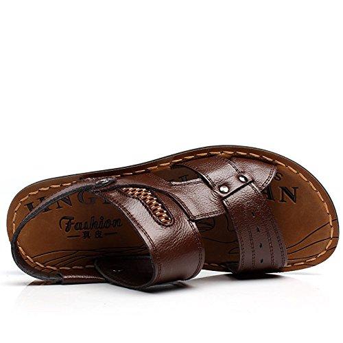 SU@DA Sandales/chaussons/2016 nouveau double-usage/été/plage chaussures été / , brown , 39