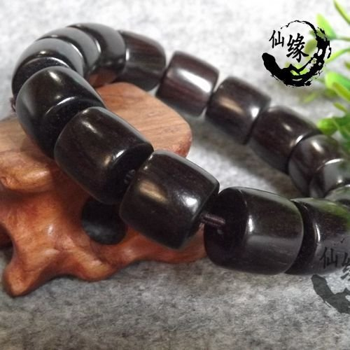 (Factory direct authentic African ebony beads barrel bead bracelets men's retro charm bracelet 1.5)