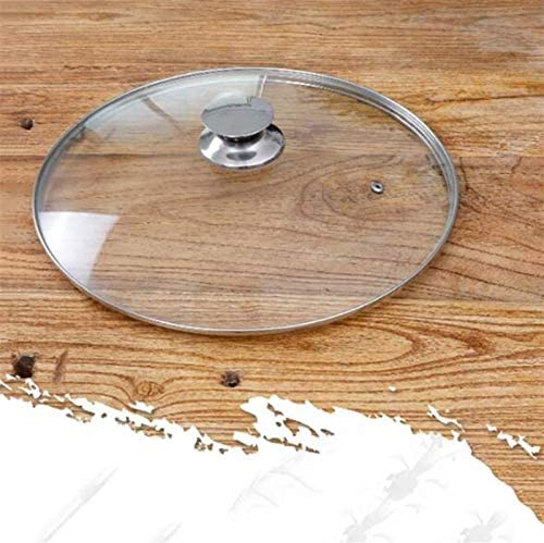Wtbew-u Verre en Acier Inoxydable Couvercle Poêle À Vapeur Vent, Cache-Pot Poêles Preserving Couvercles for Casserole Casserole (Size : 36cm)