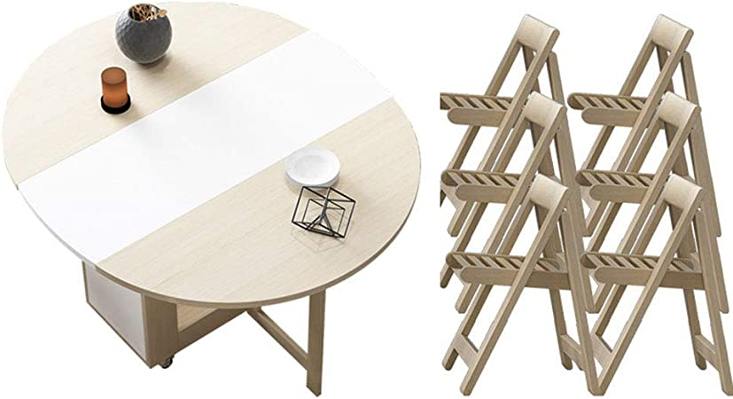 mesa plegable con 8 sillas plegables