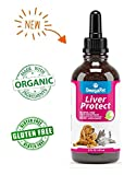 Natural Liver Support for Dogs - Organic Milk Thistle for Dogs - Liver Support Supplement Vitamins, 2 oz
