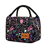 Insulated Lunch Bag for Women and Kids Reusable Tote Cooler Bag for Picnic Beach Camping by Winmax (Love)