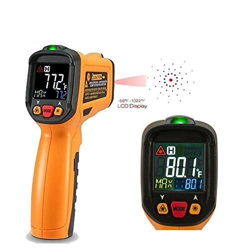 Exeblue Infrared IR thermometer, Digital Laser Thermometer LCD Display -58°F~1022°F by exeblue