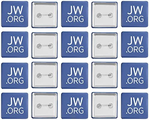 Jw.org 1.5″ Pin Back Buttons -Jehovah's Witnesses Button,Mmade in USA Pack of 20 Square – The Super Cheap