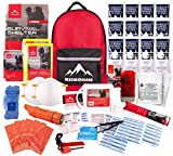 Rescue Guard First Aid Kit Hurricane Disaster or Earthquake Emergency Survival Bug Out Bag Supplies for Families - Up to 12 Day 72 Hours of Disaster Preparedness Supplies