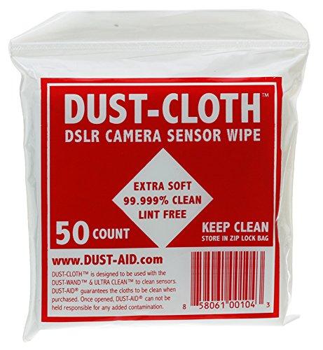 DustAid Dust Cloth 4-Inch x 4-Inch Sensor Wipe (50 for DA03)