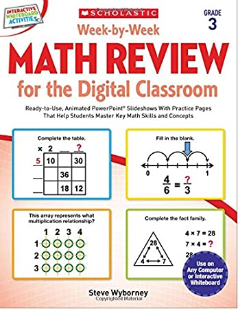 Week-by-Week Math Review for the Digital Classroom: Grade 4: Ready ...