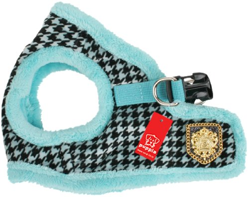 Puppia Authentic Downtown Harness B, Small, Aqua, My Pet Supplies
