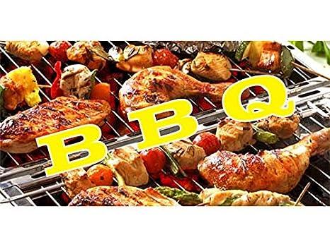 Amazon.com: bn1244 barbacoa con Yummy Yakitori un banner ...