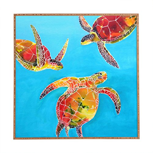 Deny Designs Clara Nilles,  Tie Dye Sea Turtles, Framed Wall Art, Large, 30
