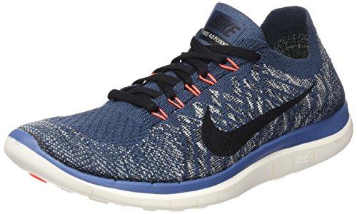 Nike Men's Free 4.0 Flyknit Sqdrn Bl/Blk/Ocn Fg/Ttl Crmsn Running Shoe 11 Men US
