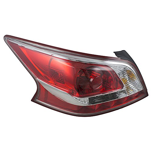 Drivers Taillight Tail Lamp Lens with Red Edge Trim Replacement for Nissan 26555-3TA0B AutoAndArt ()