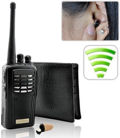 Amazon Com Piertech Walkie Talkie Wallet Earpiece Spy Hidden Bug Transmitter Set Student Cheat Copy School Exams Tests Micro Earphone Receiver Mini Wireless Audio Communication Kit