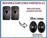 Sommer 7020V000 compatible universal infrared photocells / safety beam 12-24V, N.O-COM-N.C with 20m range!!!