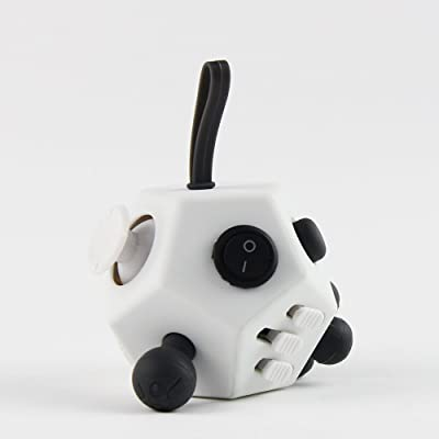 Fidget Cube Ceavis Focus Toy, Release Stress in Class/Work/Home, Safety Non-Toxic Material Made Anxiety and Relax Attention Desk Toy for Kids or Adults (Fidget Cube, 12 sides White): Arts, Crafts & Sewing