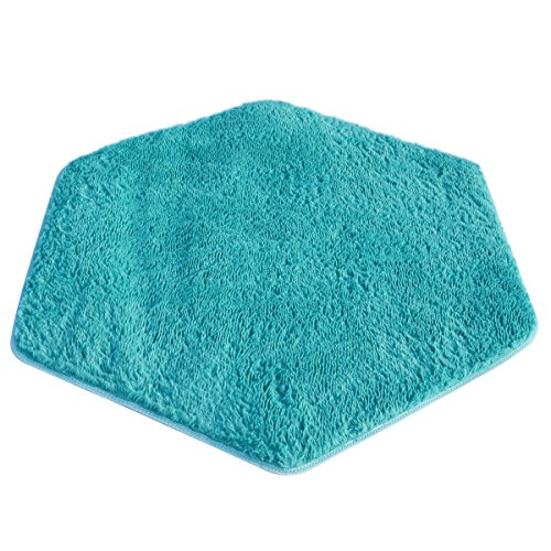 WESTLINK Hexagon Rug Pad Mat ?for Kids Playhouse Play Tent Soft Coral Blue