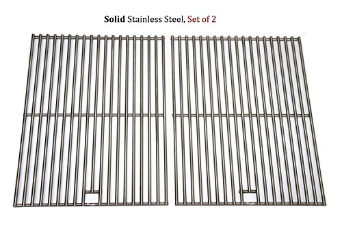 Bbq Grate (Hongso SC1712 (2-pack) BBQ Solid Stainless Steel Wire Cooking Grid, Cooking Grate Replacement for Char-Broil 463446015, 466446015, 466446115 and Others.)