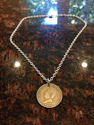El Salvador 10 centavos coin necklace