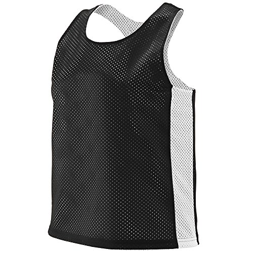 - Augusta Sportswear 968.420.S/M Women's Reversible Tricot Mesh Lacrosse Tank, Black/White, Small/Medium Pack