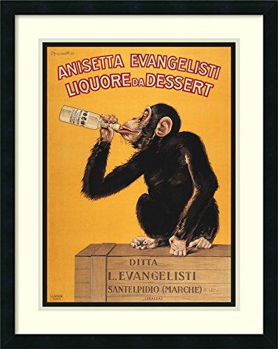 Framed Art Print 'Anisetta Evangelisti Liquore da Dessert (ca. 1925)' by Carlo - Da Liquore Dessert