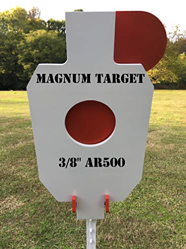 AR500 Steel Hostage Reactive IDPA 2/3 Shooting Target 3/8in 12X20 for T-Post (Best 223 Rifle Target Shooting)