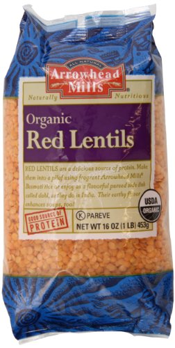 Red Lentils (Arrowhead Mills Lentils, Red, 16 Ounce)