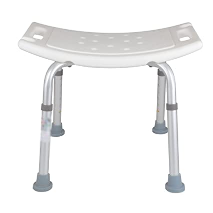AIDELAI Stool Chair Shower Stool / Bathtub Stool Wooden Shower Seat Stool  Pregnant / Seniors Aluminum