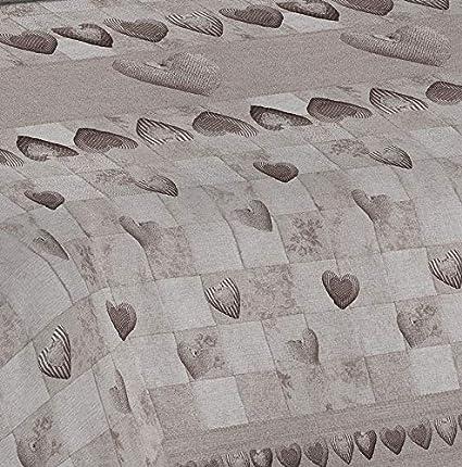 170x280 Ligera Colcha Cubrecama de Algod/ón para Cama de Matrimonio Homelife Colcha Fina de Verano y Primavera para Cama de 90 cm Edred/ón Estampado con Patchwork Fabricado en Italia Beige