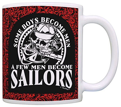 Fathers Day Gifts Some Boys Become Men Few Become Sailors Dad Gift Coffee Mug Tea Cup Paisley