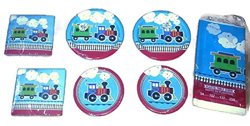 Creative Converting All Aboard Train Birthday Party Plates 9