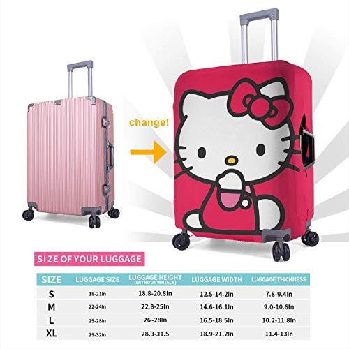 Travel Luggage Cover Red Hello Kitty Luggage Protector Suitcase Cover Fits 18-32 Inch Luggage
