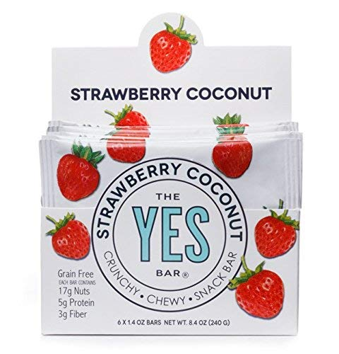 Strawberry Coconut - Gourmet Gluten-Free, Low Sugar, Paleo Snack Bar (Pack of 6) ()