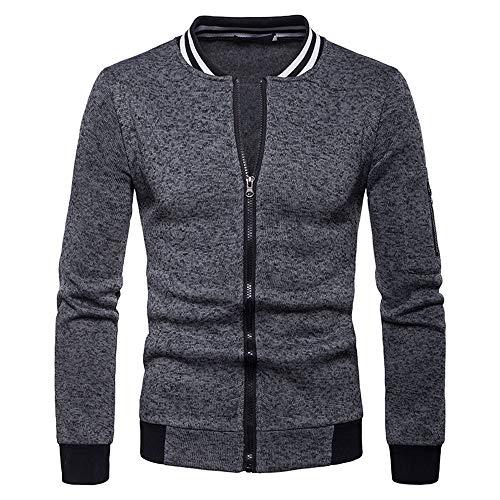 DaySeventh Mens Zipper Pocket Splicing Pullover Long Sleeve Sweatshirt Tops Blouse -