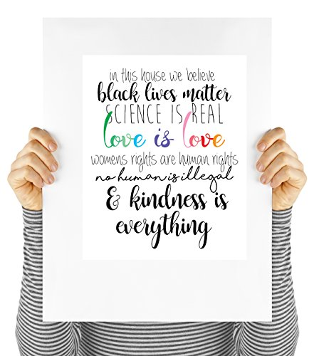 Good vibes poster, black lives matter, love is love, motivational quote, art print, wall art, quote, UNFRAMED