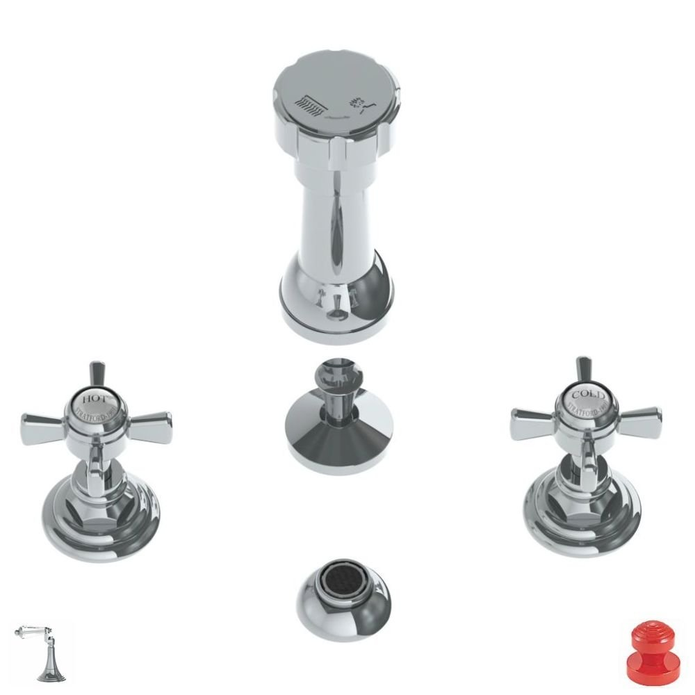 85%OFF Watermark 206-4-U3-RD Red Paris 4 Hole Bidet