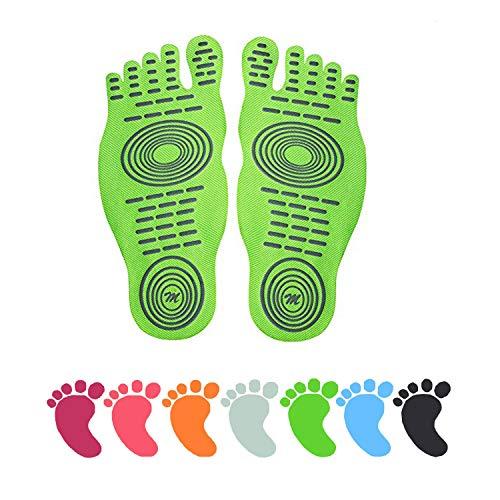 E Almohadillas Invisibles Zapatos Verano Para Verde El Actividades Fluorescente Impermeable Suelas 1 Par Diseño Amantes Los Descalzos Agua Con Antideslizante Adhesivas De Nakefit 77xrnwS